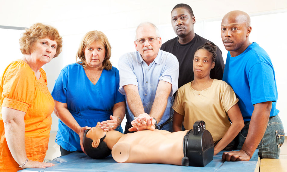 people performing cpr exercise